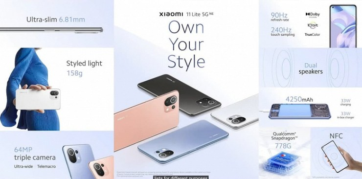 Xiaomi 11 Lite 5G NE presented - the lightest smartphone with 5G and a battery of more than 4000 mAh