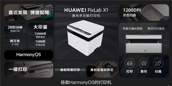 HarmonyOS, NFC and 28 prints per minute.  Huawei unveils its first PixLab X1 printer