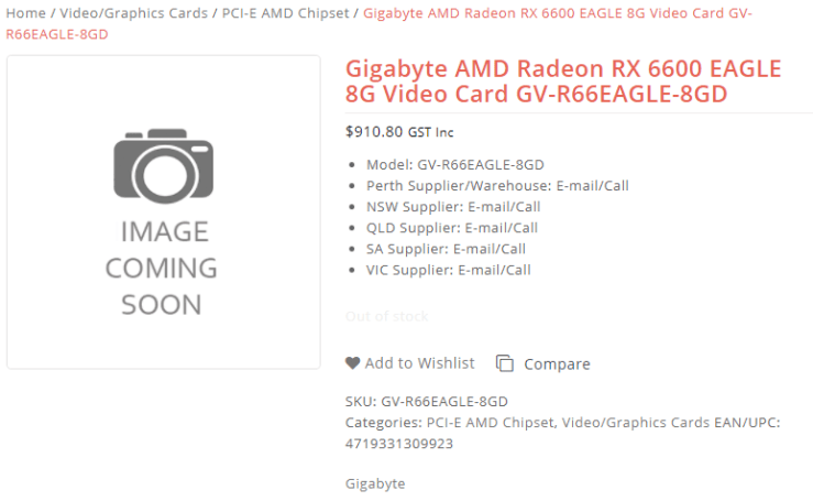 Named the cost of the Radeon RX 6600, and it does not please