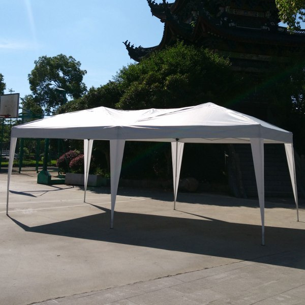 10'x 20' Ez Pop- White Wedding Party Patio Marquee