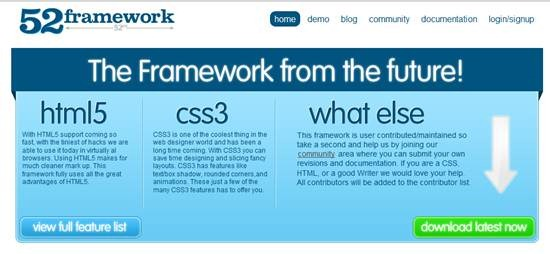 52Framework - html5 and css3 supported framework