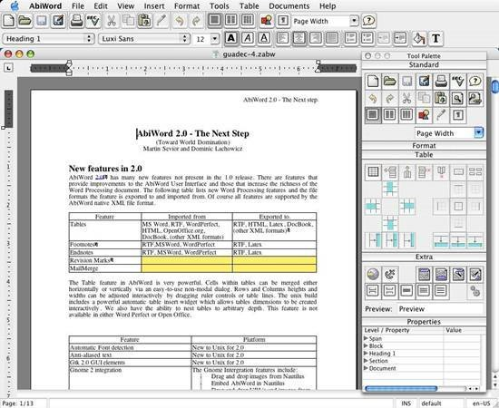 AbiWord free and open source word processor - Best Of