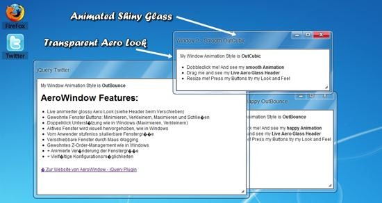 AeroWindow - Plugin for jQuery