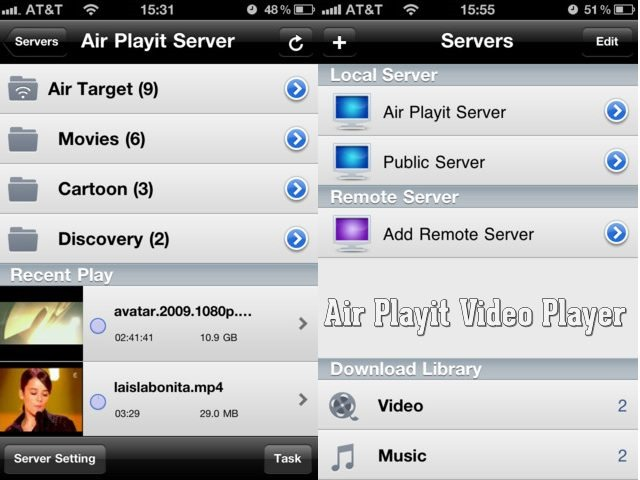 Air Playit - Best Mobile video players for iPhone