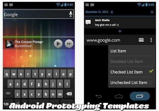 Android Prototyping Templates