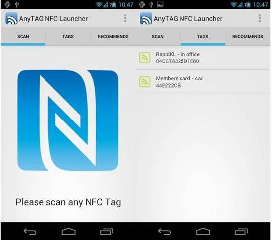 AnyTAG NFC Launcher 7 Best Android NFC Apps