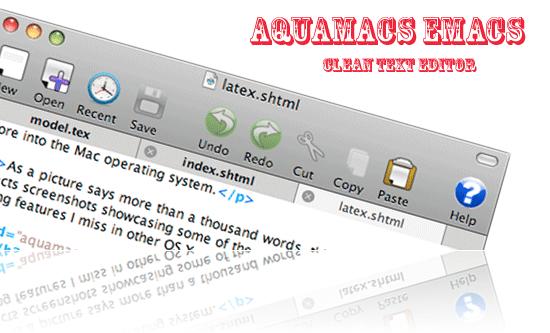 Aquamacs text editor mac os x text editor