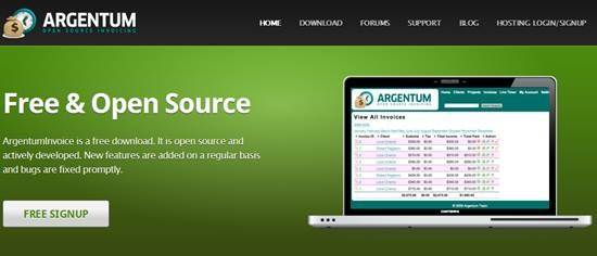 ArgentumInvoice – Open Source invoicing and project