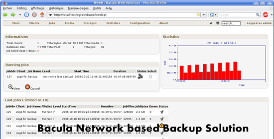 Bacula Network based Backup