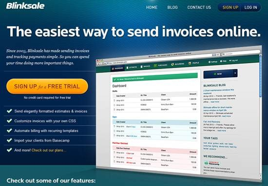 Blinksale Online Invoicing application
