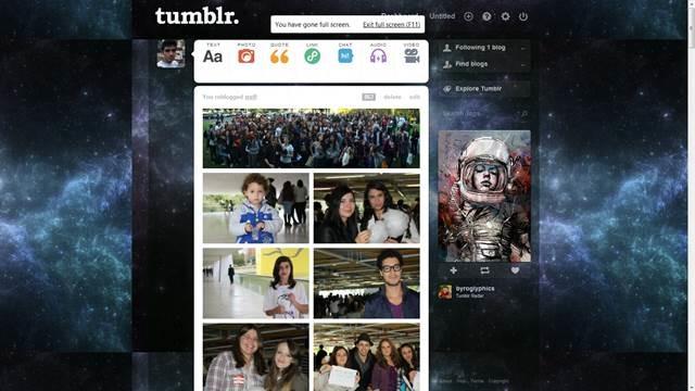 Blue Nebula 49 Useful Tumblr dashboard theme for Tumblr User