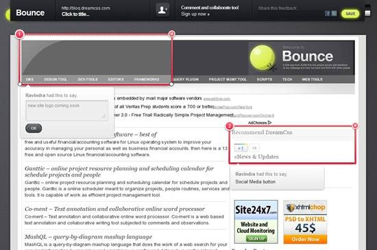 Add feedback to any webpage with Bounce App