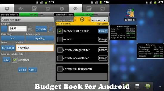 Budget Book for Android 12 useful Personal Finance manager for Android