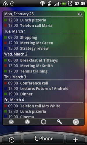 Business Calendar app Android