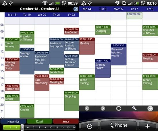 Business Calendar for Android