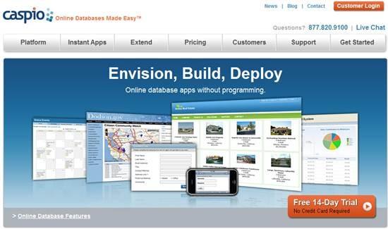 Caspio online database 8 Online Database builder/creators