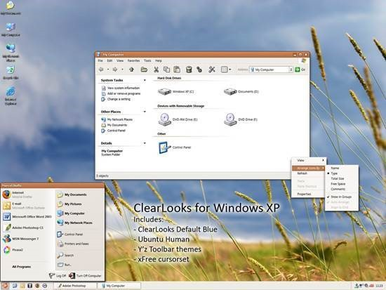 ClearLooks_for_Windows_XP 55 most Beautiful free Window XP Themes and Visual Styles