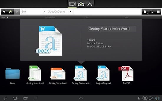 Cloudon Microsoft Office on Android