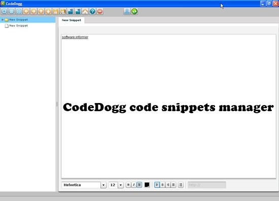 CodeDogg Top 10 Code Snippets manager for Mac