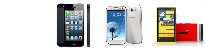 Comparison between iPhone 5 VS Samsung Galaxy S III VS Nokia Lumia 920