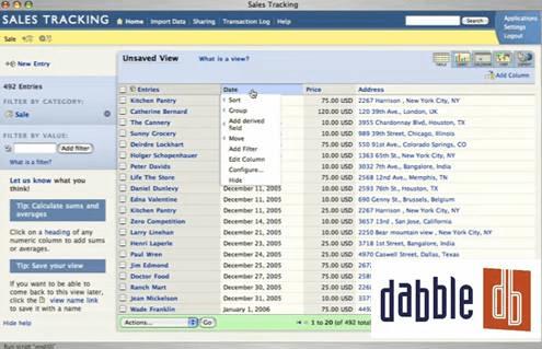 Dabble DB 8 Online Database builder/creators