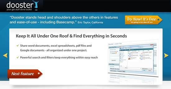 Dooster Online project management software