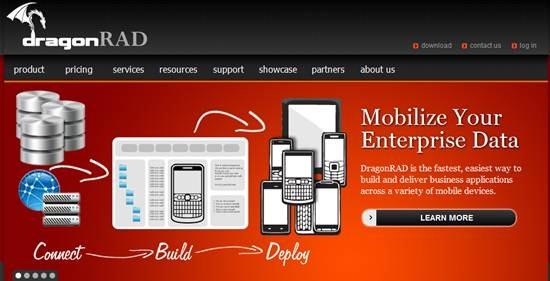 DragonRad mobile application development platform