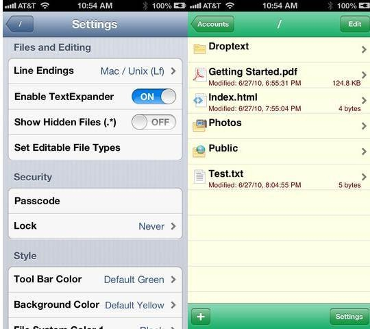 Droptext 6 useful Dropbox Text Editors for iPhone and iPad