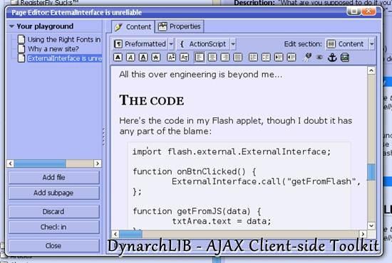 DynarchLIB - AJAX Client-side Toolkit