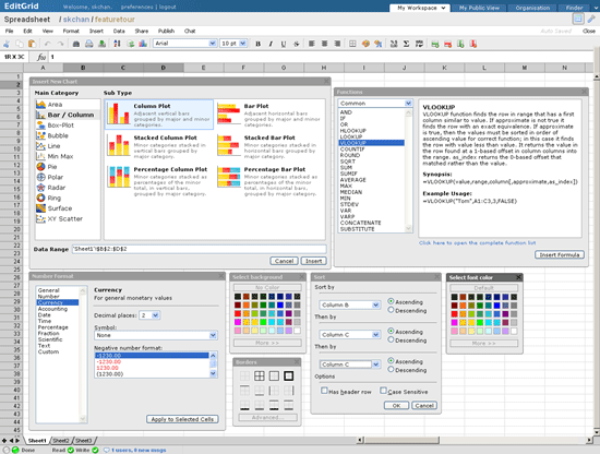 EditGrid - web-based spreadsheet editor