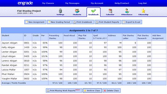 Engrade online gradebook