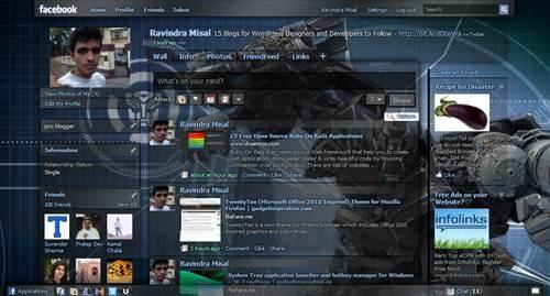 Facebook Skin transformer Ironhide Theme