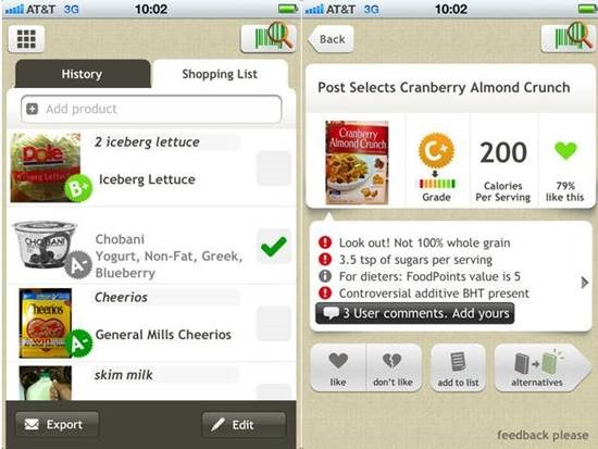 Fooducate health apps Top 6 Health Related iPhone Apps