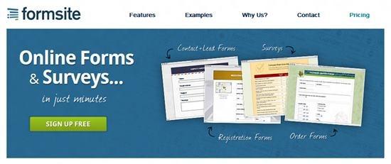 Formsite Top 13 online Form Building Apps