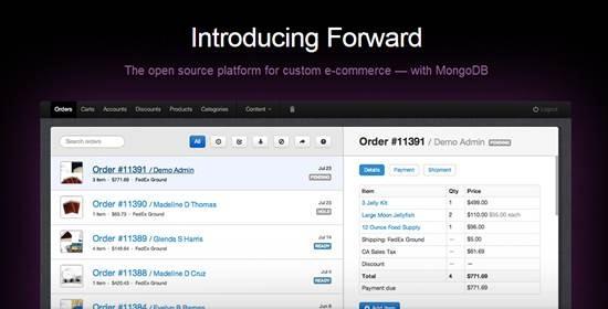 Forward custom e-commerce platform