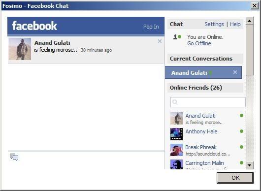 Fosimo facebook desktop apps