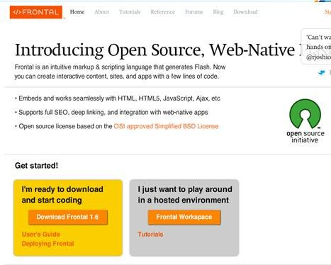 Frontal - Open Source and Web-Native Flash