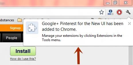 confirmation of Google+ Pinterest Pinterest style User Interface for Google+ [How-to]