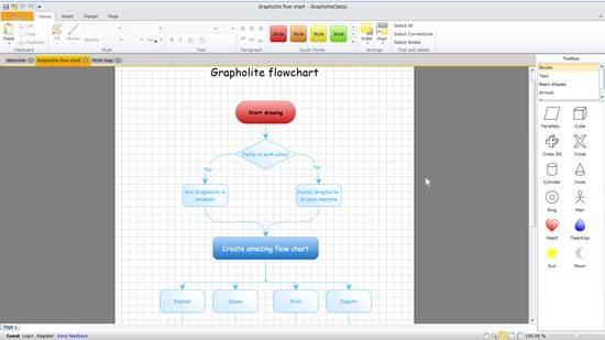 Grapholite - online flowcharting tool