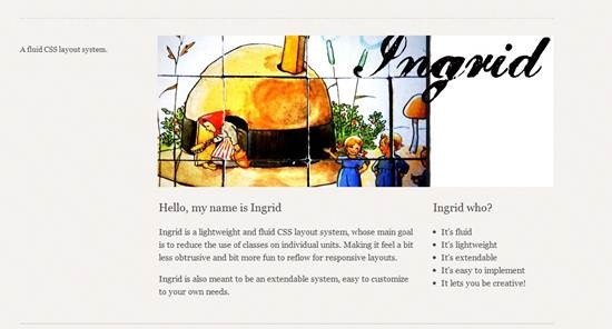 Ingrid - fluid CSS layout system