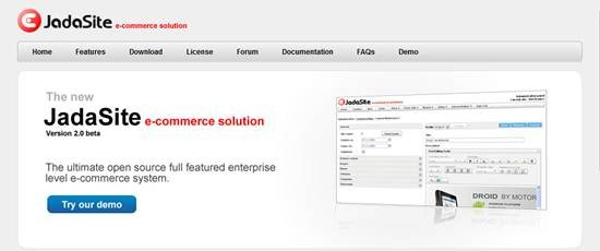 JadaSite - Java based e-commerce system