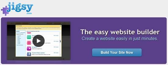 Jigsy Hosted website builder