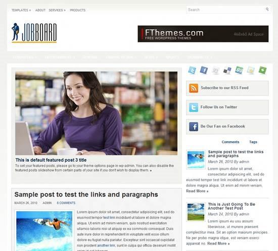 JobBoard by FThemes Job Board Themes for WordPress