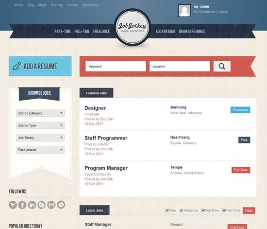 JobJockey job board theme for WordPress