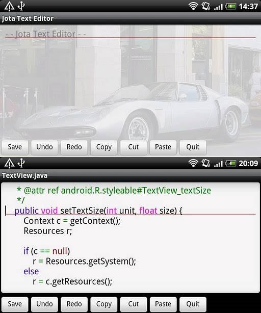 Jota Text Editor 1