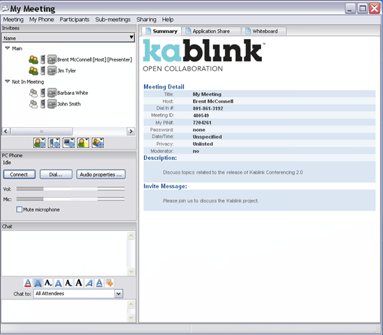 Kablink Conferencing - open source online meeting software