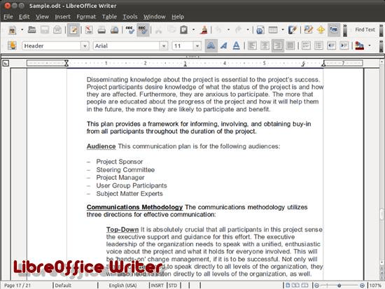 LibreOffice Writer free and open source word processor - Best Of