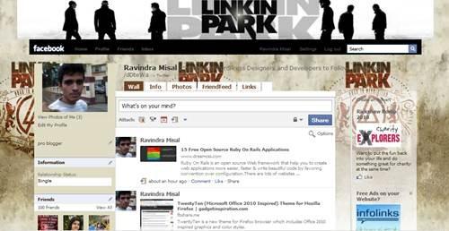 Linkin Park Facebook Theme