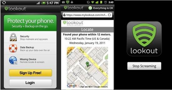 Lookout Security and Antivirus 9 Android Tracking Apps for Find Lost Android smartphone