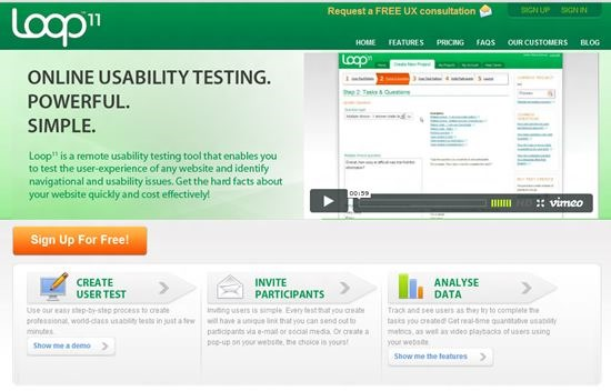 Loop11 Usability Testing : 13 most useful and simple Usability Testing software